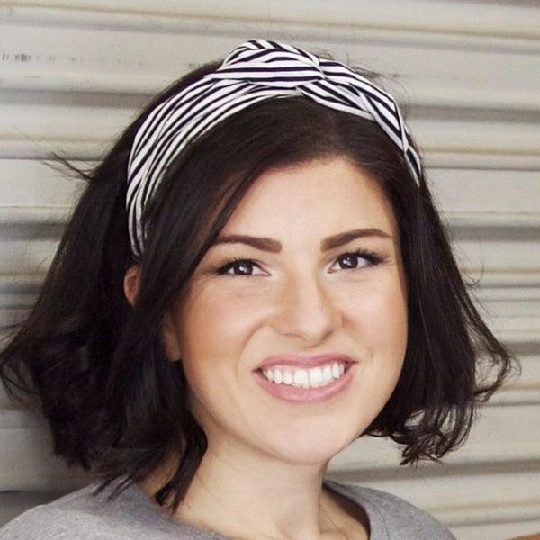 Black & White Stripe Headband - Byrd Headbands