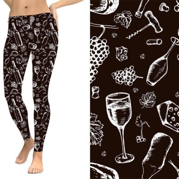 Wine Aficionado - Leggings w/Pockets