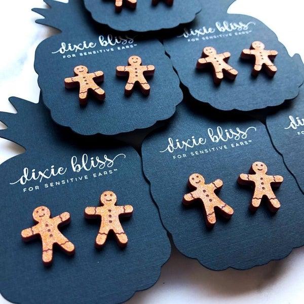 Gingerbread Men - Stud Earrings