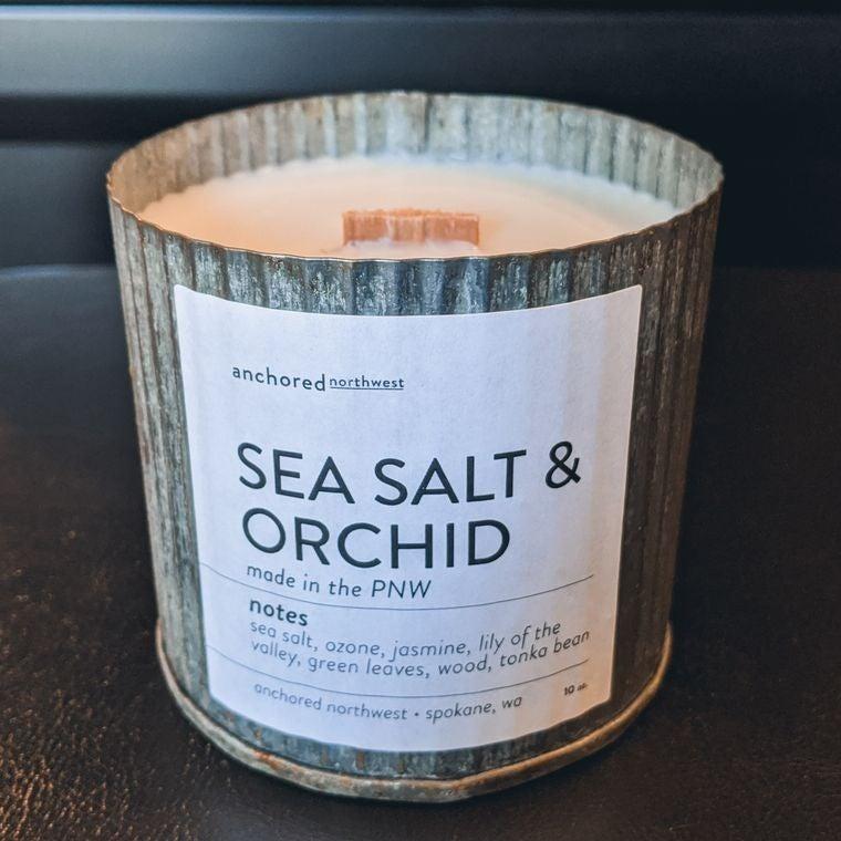 Restocking SOON! Rustic Vintage Soy Candle - Sea Salt & Orchid (10oz)