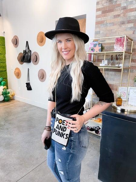 Poets and Punks - Beaded Mini Bag
