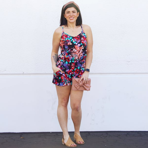 Wildflower - Black Romper - Reg/Plus