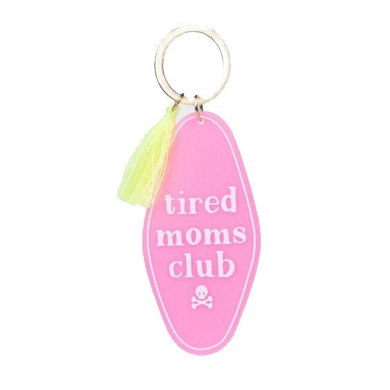 Tired Moms Club - Retro Motel Keychain