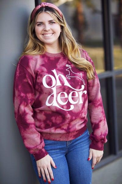 Oh Deer Tie Dye Sweatshirt