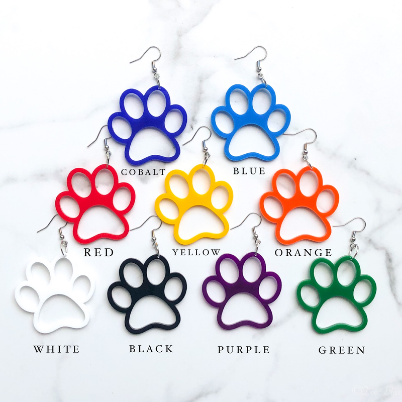 Paw Prints - Dangly Earrings