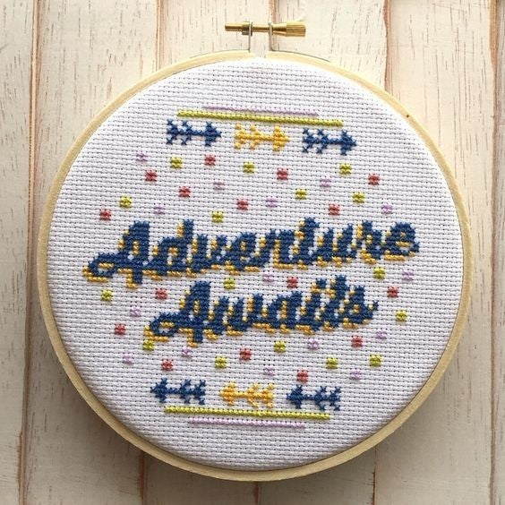 Adventure Awaits DIY Cross Stitch Kit