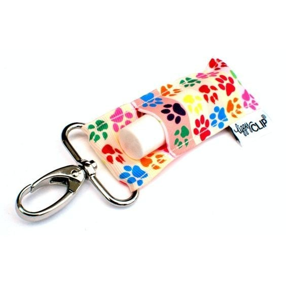 LippyClip Lip Balm Holder - Paw Prints