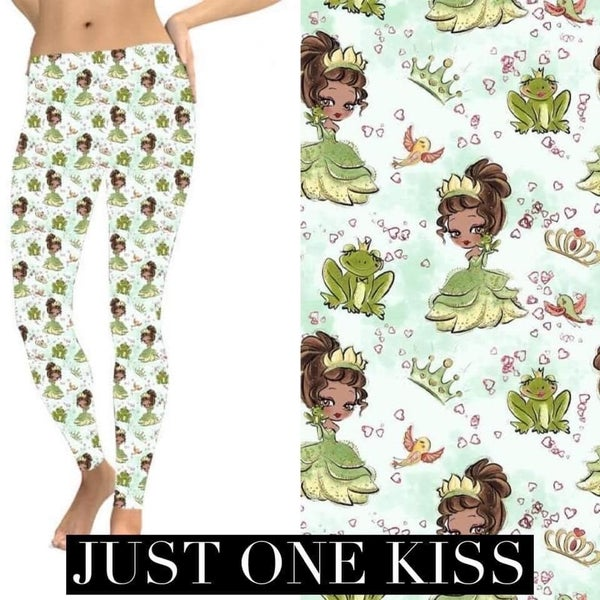 Kids + Adult: Just One Kiss - Leggings w/Pockets - Reg/Plus