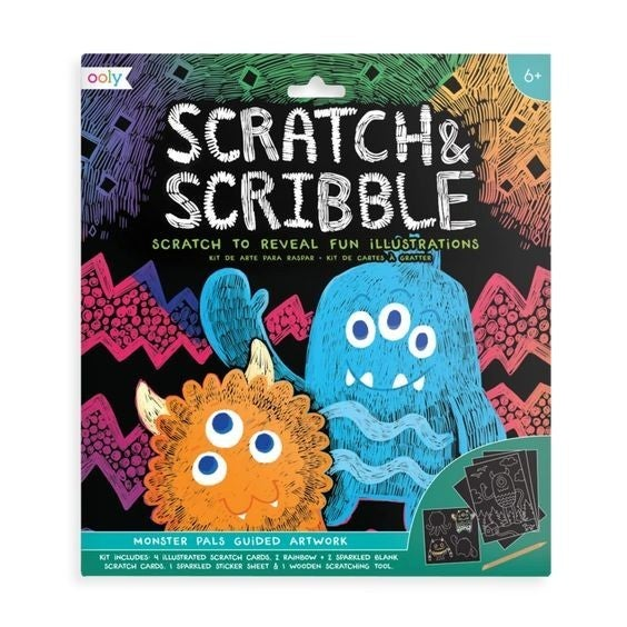 Monster Pals - Scratch and Scribble Scratch Art Kit