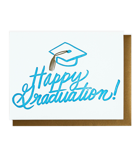 Happy Graduation - Letterpress Card