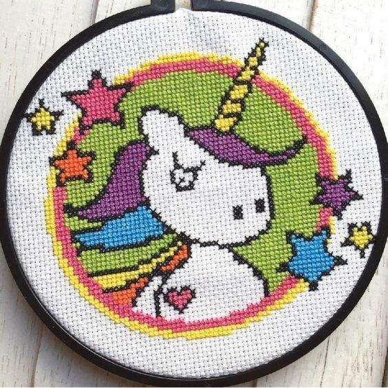Unicorn DIY Cross Stitch Kit