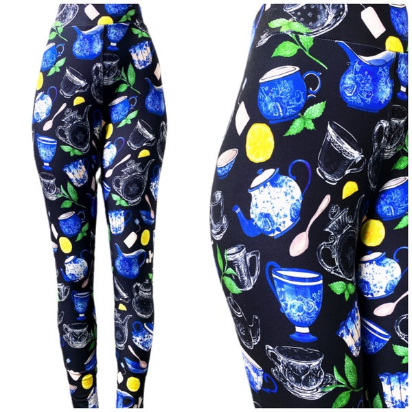 Tea Time - Leggings - Reg/Plus