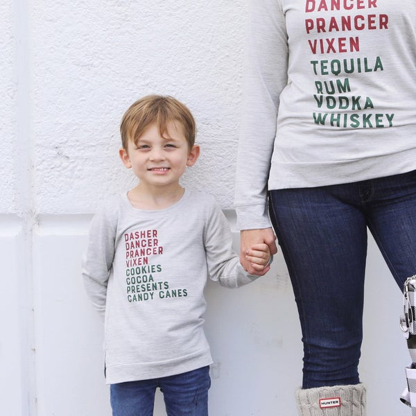 Kids Reindeer Treats - Long-Sleeve Sweater Top