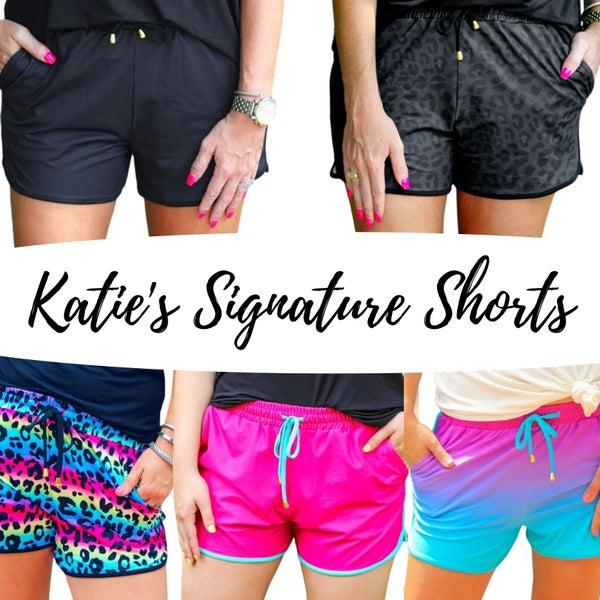 Katie's Signature Shorts - Drawstring, Stretchy, Pockets! - Reg/Plus