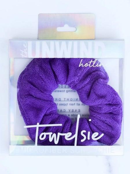 Towelsie - Purple Microfiber Scrunchie