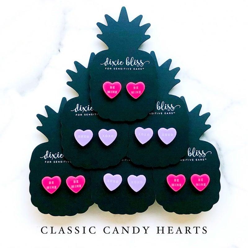 Classic Candy Hearts - Stud Earrings