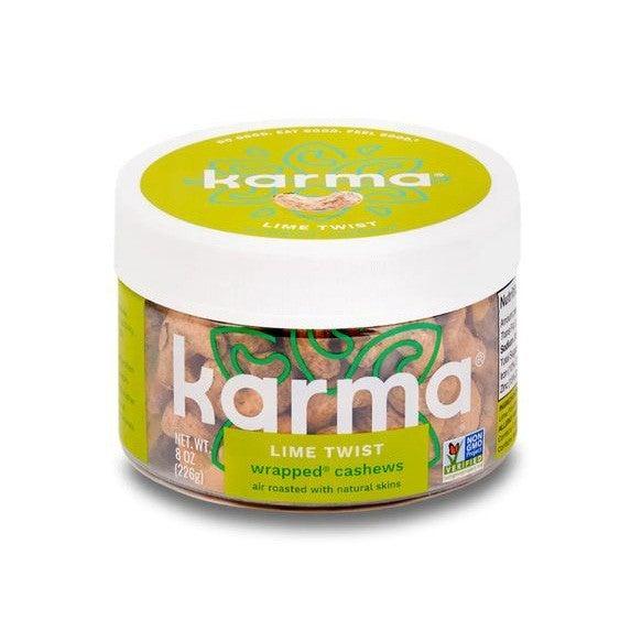 Lime Twist Wrapped Cashews - Karma Nuts