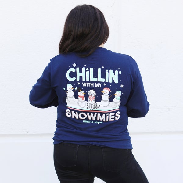 Chillin' With My Snowmies - Long-Sleeve Crew Neck - JLB - Reg/Plus