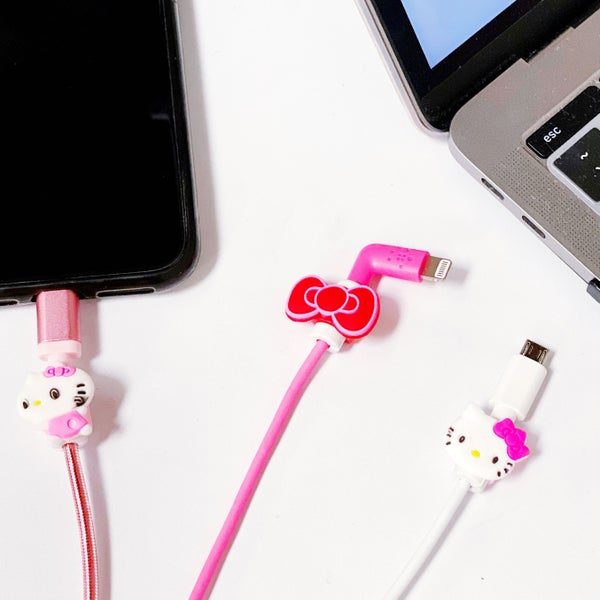 Hello Kitty - 3 Pack - Snap-On Anti-Break Data Cable Protectors