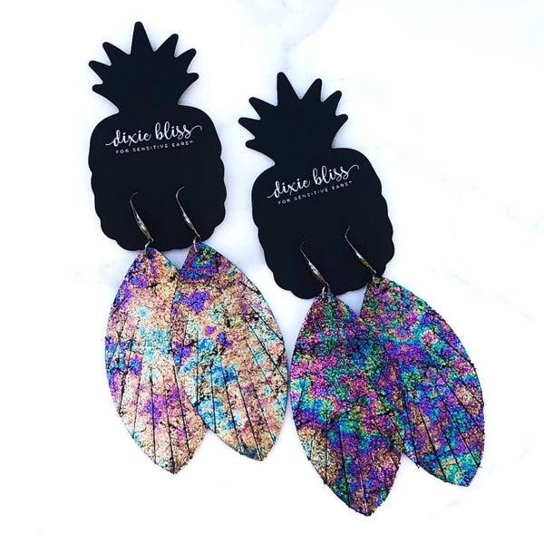Eden - Leather Dangly Earrings