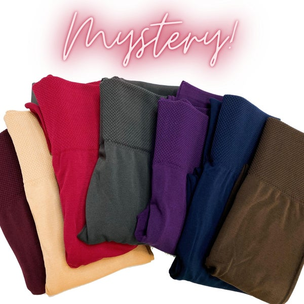 MYSTERY - Fleece-lined Tummy Control Leggings - Reg/Plus
