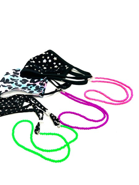 Adjustable Neon Face Mask Lanyards *Final Sale*