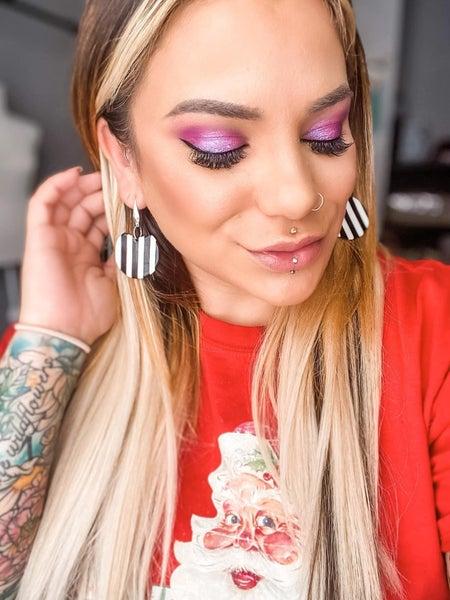 Myrtle in Stripes - Dangly Earrings