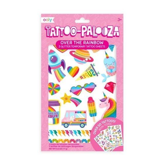 Over The Rainbow - Tattoo-Palooza Temporary Tattoos - 3 sheets