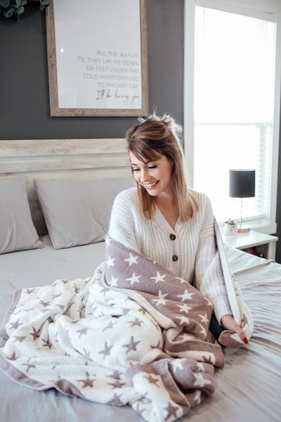 Taupe Stars - The Luxe Blanket
