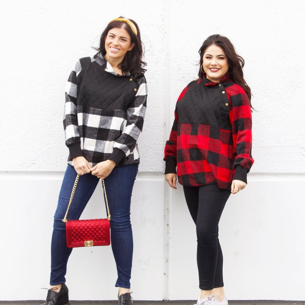Hold Me Tight - Quilted Plaid Pullover