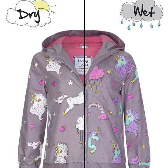 Kids - Color-Changing Raincoat - Unicorn