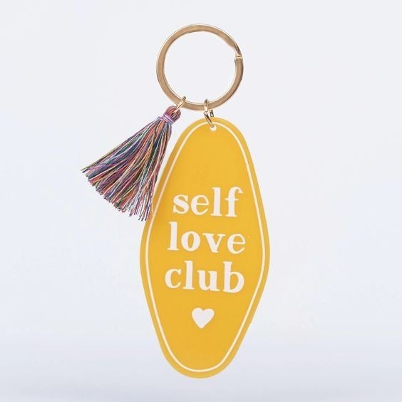 Self Love Club - Retro Motel Keychain