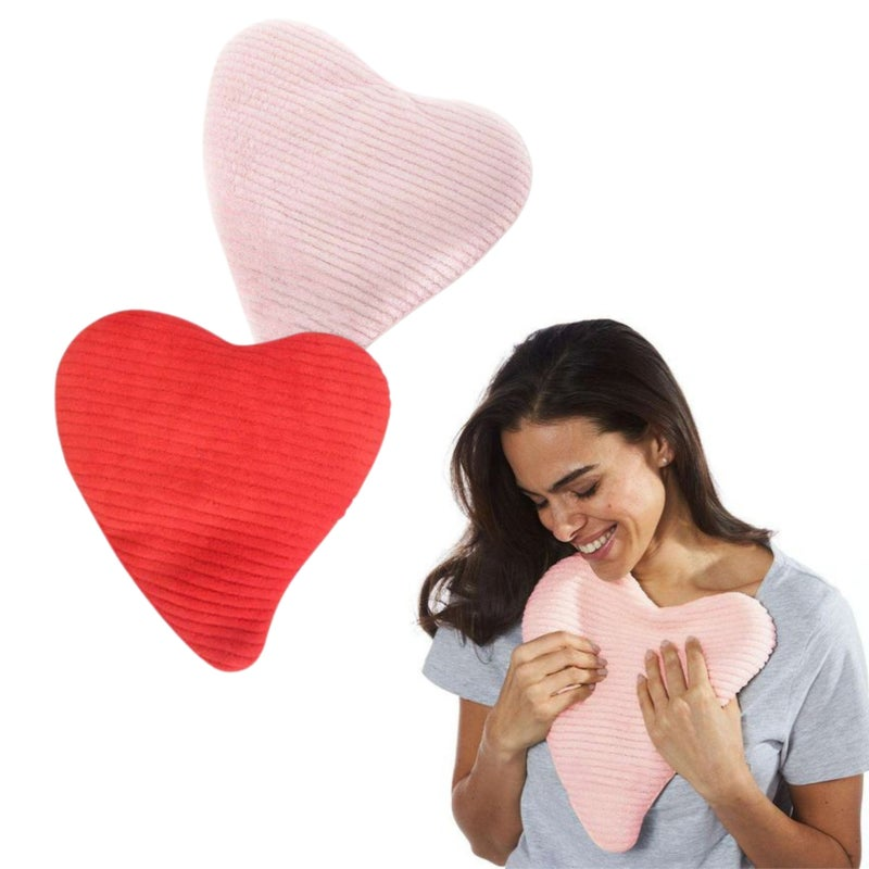 Heart Heating Pad - Warmies - Red & Pink