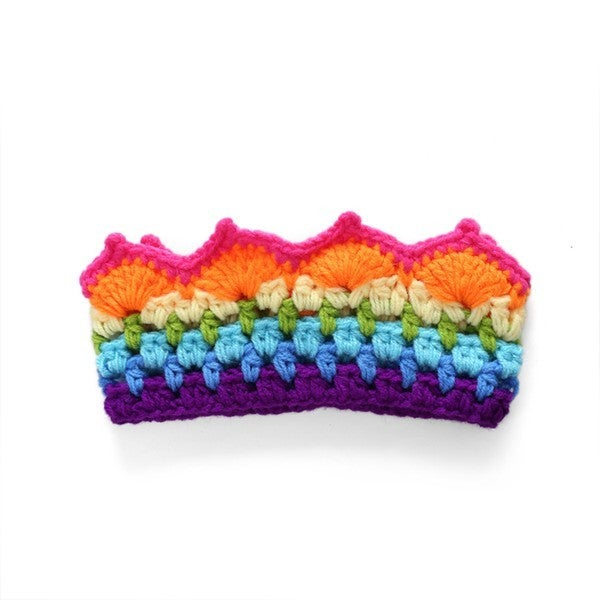 Baby/Toddler Soft Crochet Rainbow Crown