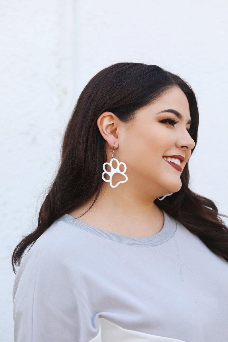 Paw Prints - Dangly Earrings