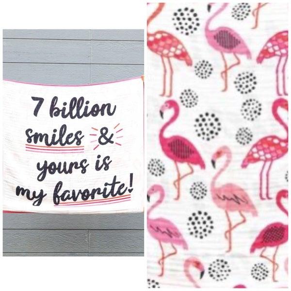 7 Billion Smiles - Baby Blanket - JLB