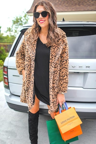 The Starlet - Leopard Faux Fur Coat - Reg/Plus