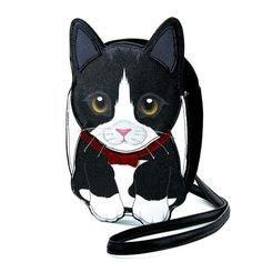Tuxedo Cat Cross Body Bag