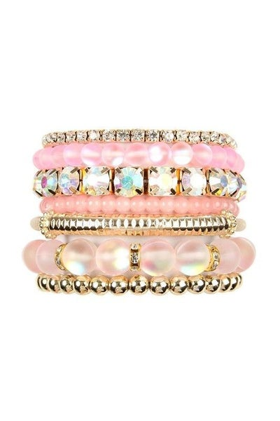 Ballet Pink - Mermaid Stretch Bracelet Stack