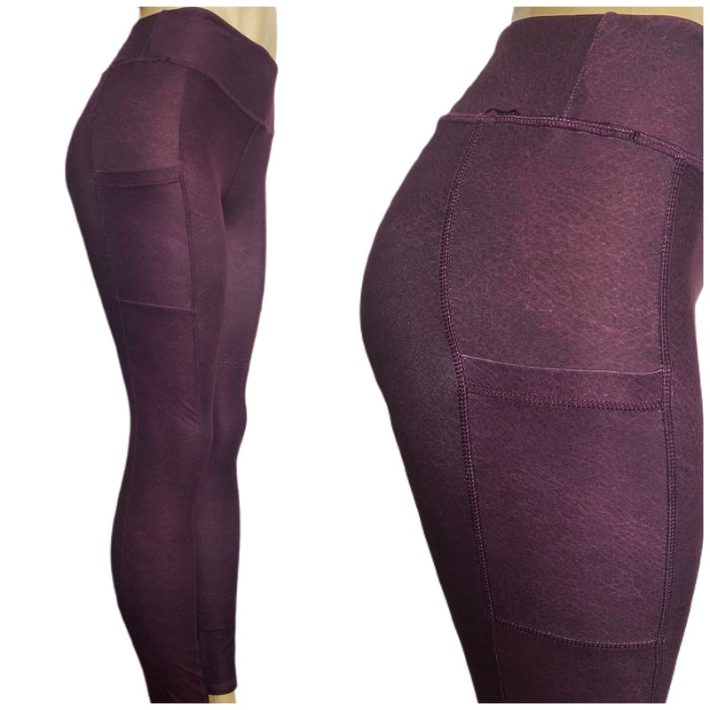 The Look of Faux-Leather - Leggings w/Pockets
