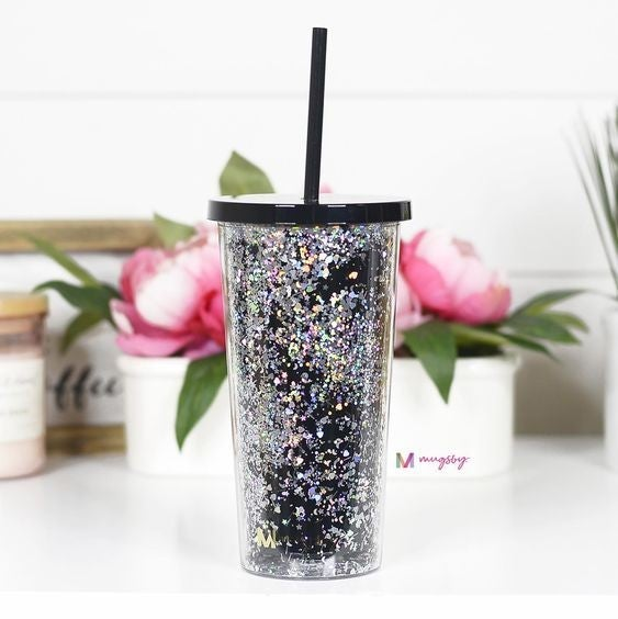 Glitter Tumbler with Straw - 20oz - Mugsby
