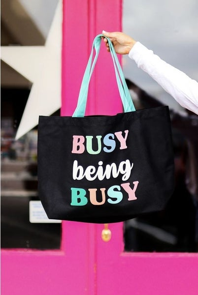 Busy Being Busy - Oversized Tote Bag - JLB