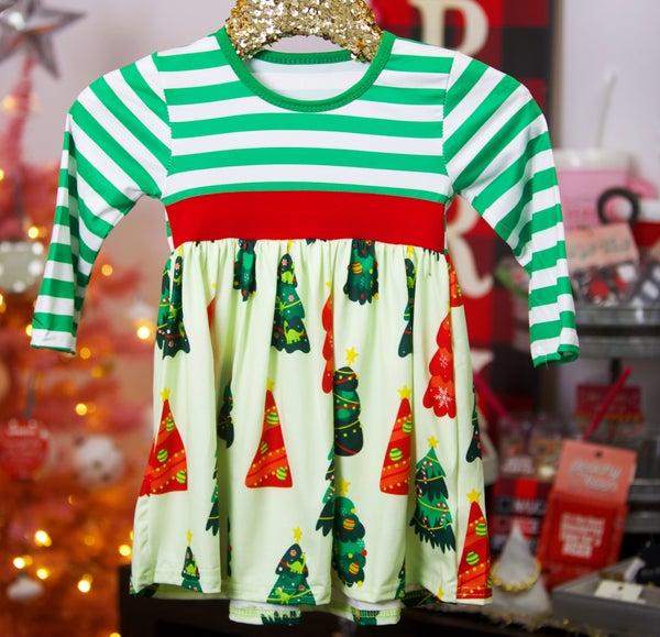 KIDS - Dinosaur Christmas - The Girl Next Door Dress