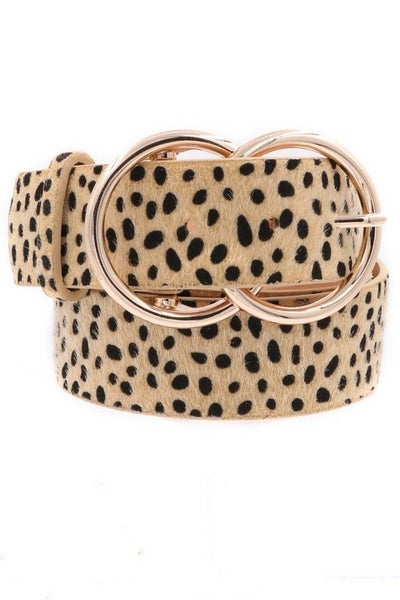 Double Ring  Ditsy Dalmatian Belt