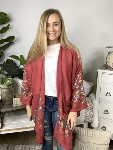 Plum Kimono