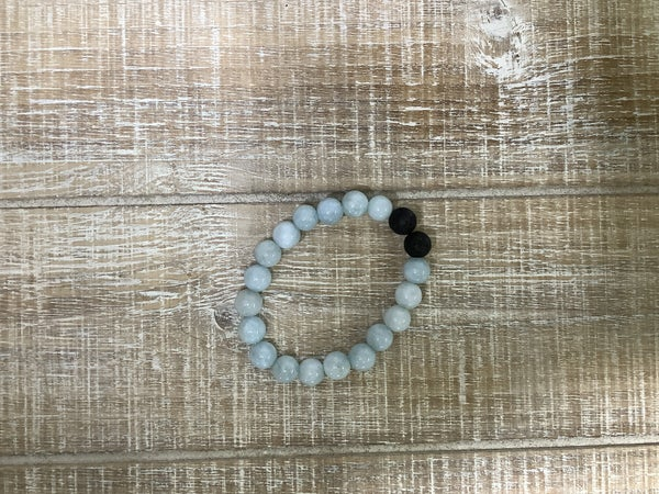 Kids Mint Natural Stone Bracelet
