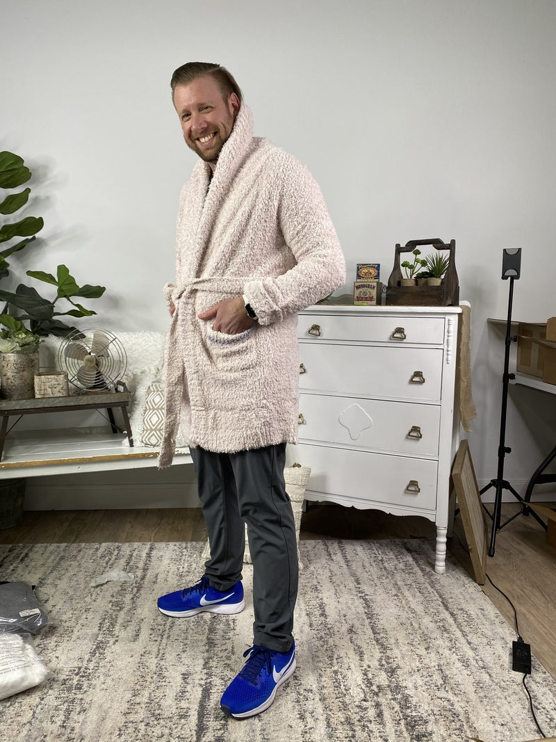 Powder Pink Berber Fleece Robe *Final Sale*