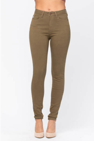 Judy Blue Hi Waist Colored Skinny - Olive *Final Sale*