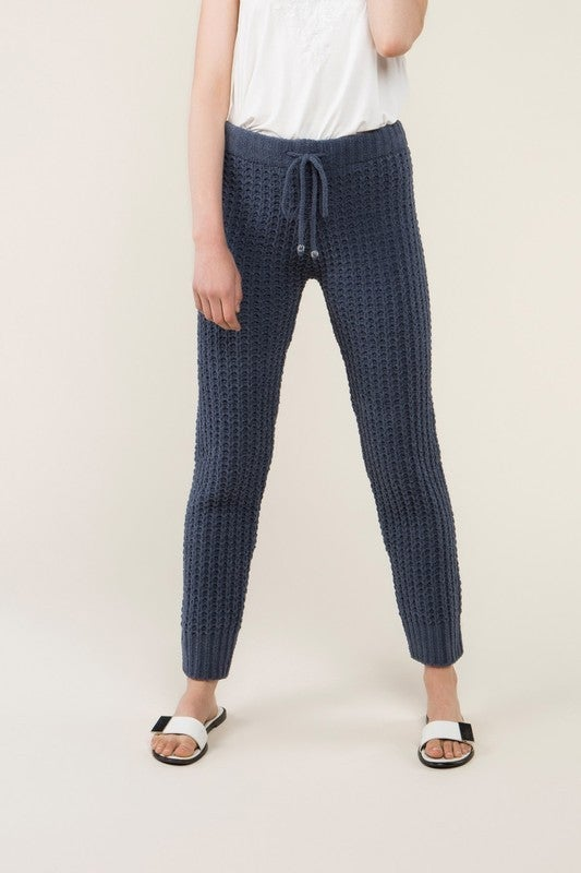 Blueberry Waffle Knit Pants *Final Sale*