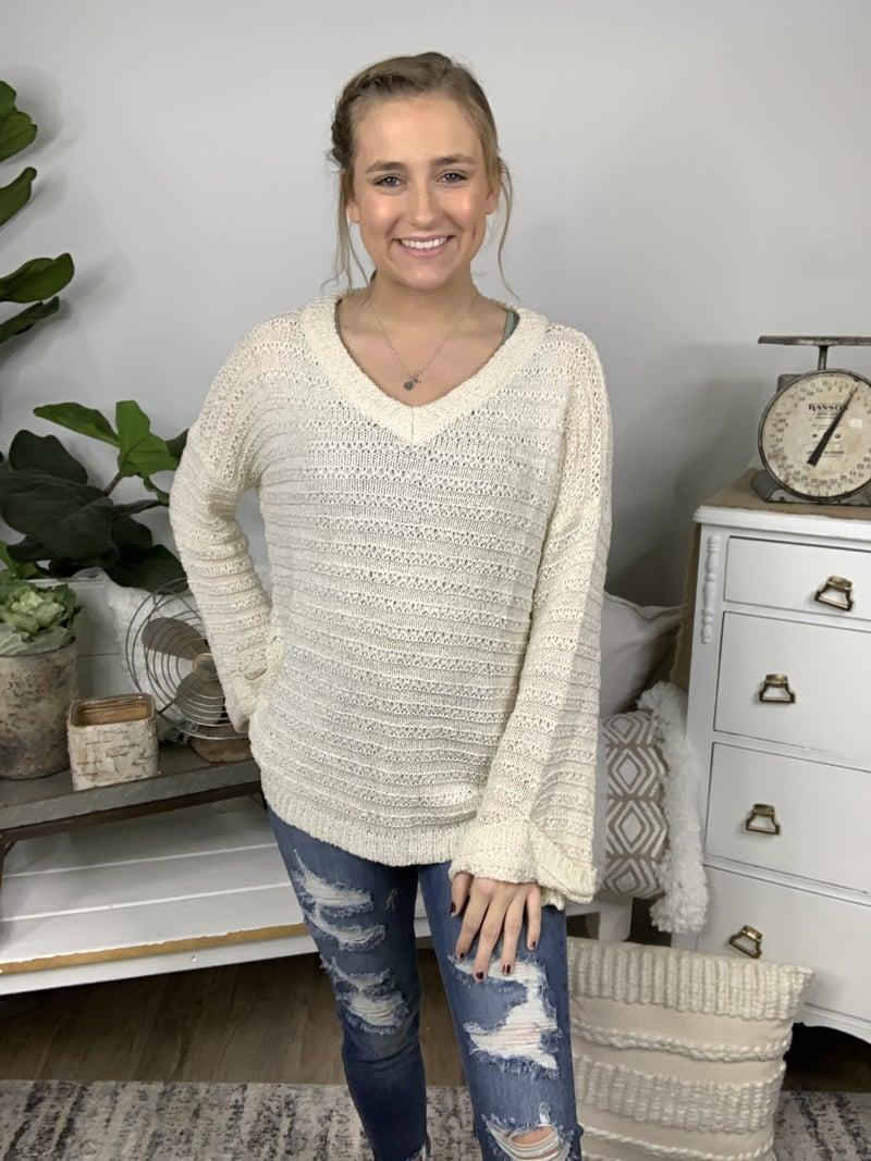 Ivory Embossed Sweater